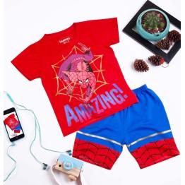 Bộ đồ đùi siêu nhân người Nhện AMAZING comic in nhũ cực đẹp cho bé trai