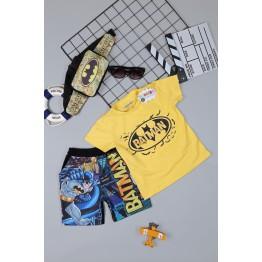 Đồ bộ siêu nhân người dơi Batman - tặng túi đeo chéo - túi bao tử