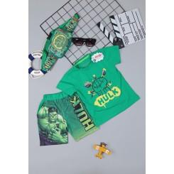 Đồ bộ siêu nhân người khổng lồ HULk - tặng túi đeo chéo - túi bao tử