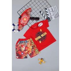 Đồ bộ siêu nhân người sắt IRONMAN - tặng túi đeo chéo - túi bao tử