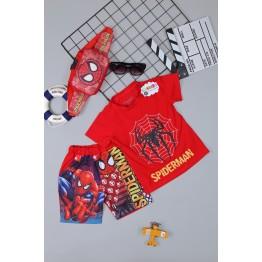Đồ bộ siêu nhân người nhện Spider man - tặng túi đeo chéo - túi bao tử