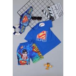 Đồ bộ siêu nhân SUPER MAN - tặng túi đeo chéo - túi bao tử