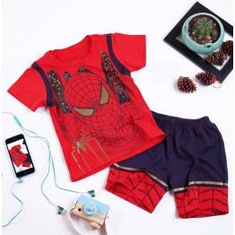 Bộ đồ đùi siêu nhân người Nhện comic in nhũ cực đẹp cho bé trai