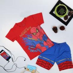 Bộ đồ đùi siêu nhân người Nhện Ultimate comic in nhũ cực đẹp cho bé trai