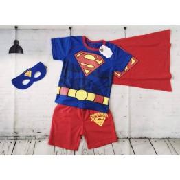 Bộ áo thun siêu nhân cho bé trai Xanh