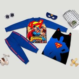 Bộ hóa trang siêu nhân Superman 3D comic - tặng áo choàng và mặt nạ