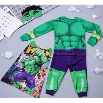 Bộ hóa trang siêu nhân khổng lồ xanh Hulk - tặng áo choàng và mặt nạ