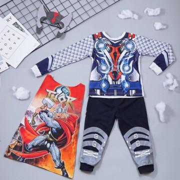 Bộ hóa trang siêu nhân thần sấm Thor - tặng áo choàng và mặt nạ