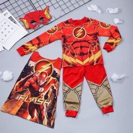 Bộ hóa trang người hùng tia chớp Flash - tặng kèm áo choàng và mặt nạ