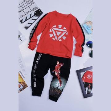 Quần áo siêu nhân tay dài Ironman Comic cho bé