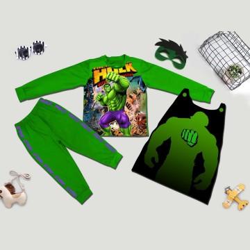 Bộ hóa trang siêu nhân người khổng lồ Hulk 3D comic - tặng áo choàng và mặt nạ