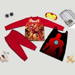 Bộ hóa trang siêu nhân người sắt Ironman 3D comic - tặng áo choàng và mặt nạ