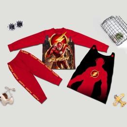 Bộ hóa trang siêu nhân tia chớp Flash 3D comic - tặng áo choàng và mặt nạ