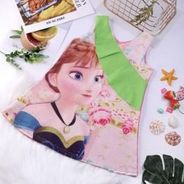 Đầm suông chữ A công chúa Anna phối bèo xinh xắn