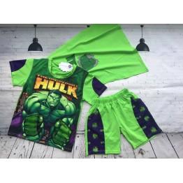 Bộ áo thun Hulk đèn cảm ứng cho bé trai