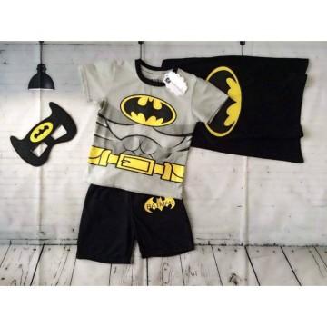 Bộ đồ siêu nhân người dơi Batman cho bé trai màu xám (8kg-23kg)