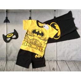 Bộ đồ siêu nhân Batman cho bé trai 12kg-28kg màu vàng