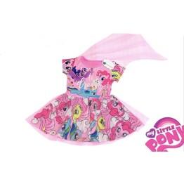 Đầm Pony choàng voan lưới bé gái xinh xắn