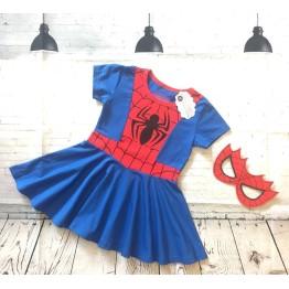 Đầm siêu nhân người nhện Spiderman bé gái từ 13kg - 32kg
