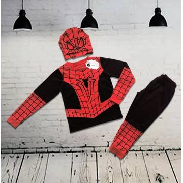 Đồ siêu nhân người nhện tay dài mũ trùm bé trai từ 13kg - 29kg