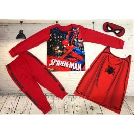 Đồ siêu nhân tay dài Comic in 3D Người nhện Spiderman bé trai từ 11kg - 29kg