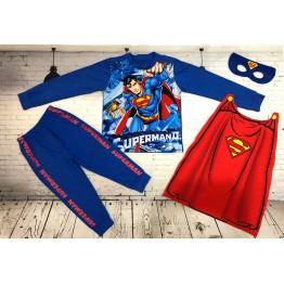 Đồ siêu nhân tay dài Comic in 3D Superman bé trai từ 11kg - 29kg