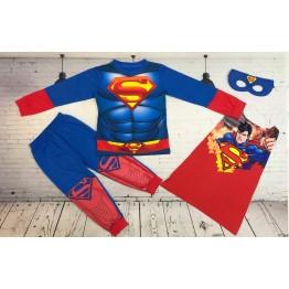 Đồ siêu nhân tay dài in 3D Superman bé trai từ 11kg - 28kg