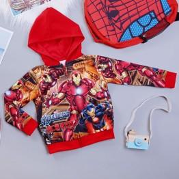 Áo khoác siêu nhân người sắt Ironman comic cao cấp cho bé