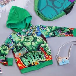 Áo khoác siêu nhân người xanh Hulk comic cao cấp cho bé