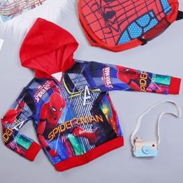 Áo khoác siêu nhân Nhện comic cao cấp cho bé