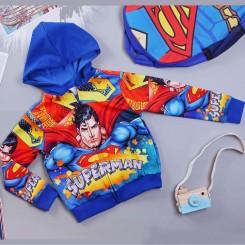 Áo khoác siêu nhân comic cao cấp cho bé