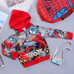 Áo khoác siêu nhân thần sấm Thor comic cao cấp cho bé