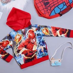 Áo khoác siêu nhân tia chớp Flash comic cao cấp cho bé
