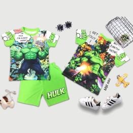 Đồ bộ lửng siêu nhân người xanh 3D Hulk truyện tranh