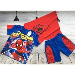 Bộ áo thun người nhện Spiderman đèn cảm ứng cho bé trai