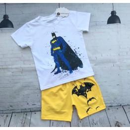 Bộ đồ thun tranh vẽ người dơi Batman cho bé trai