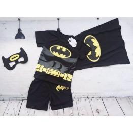 Bộ áo thun Batman cho bé trai đen