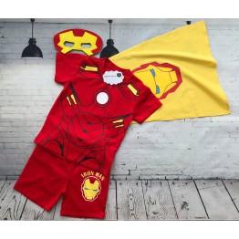 Bộ áo thun người sắt Ironman cho bé trai