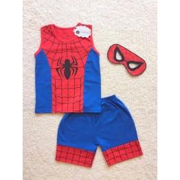 Bộ sát nách nhện spiderman kèm mặt nạ