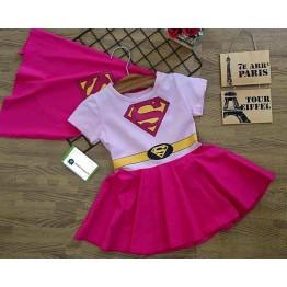 Đầm siêu nhân Superman cho bé gái