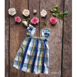Đầm caro cho bé gái (12kg - 23kg) kiểu dáng xinh xắn màu nắng